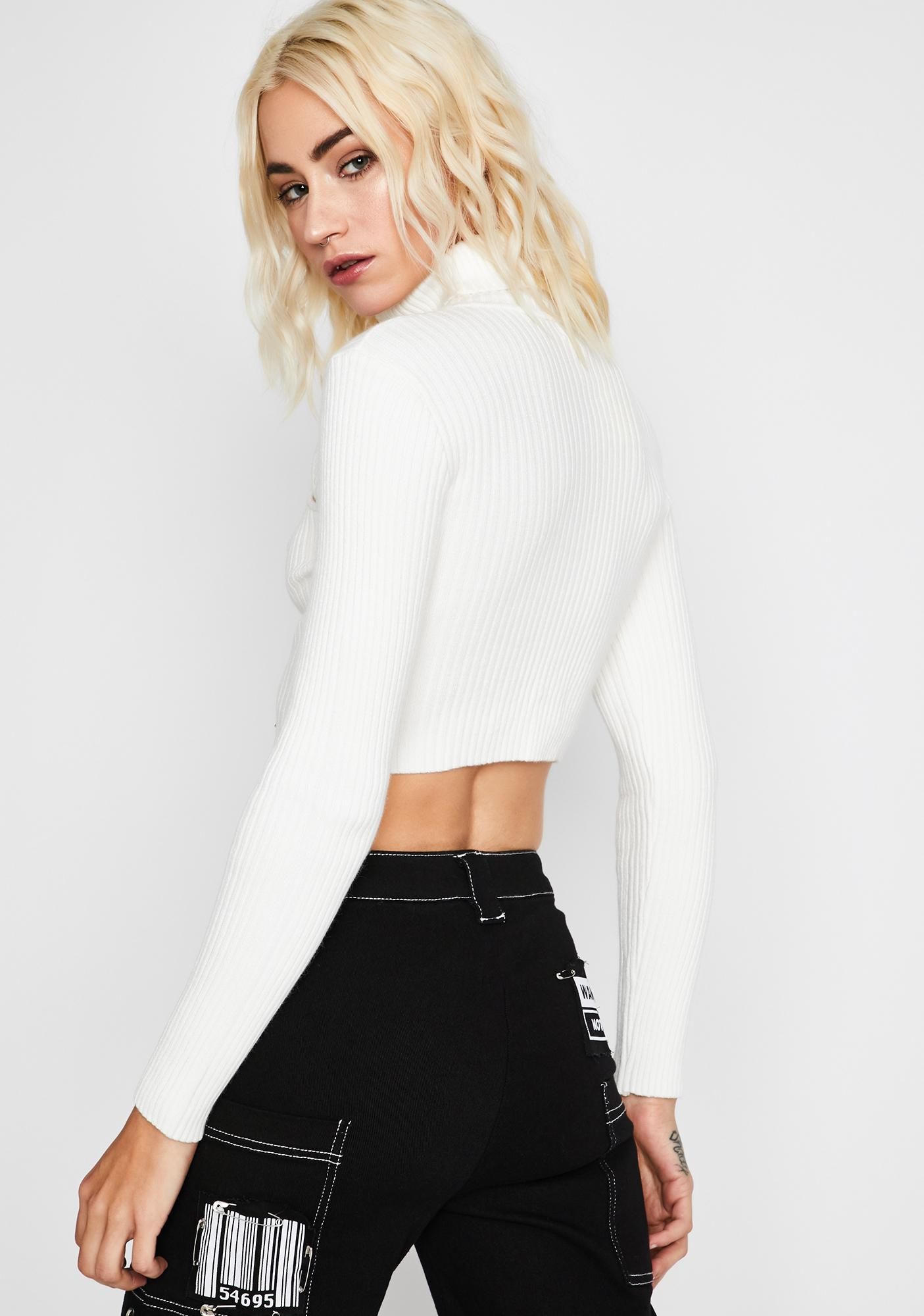 Icy Peep The Scene Cropped Sweater
