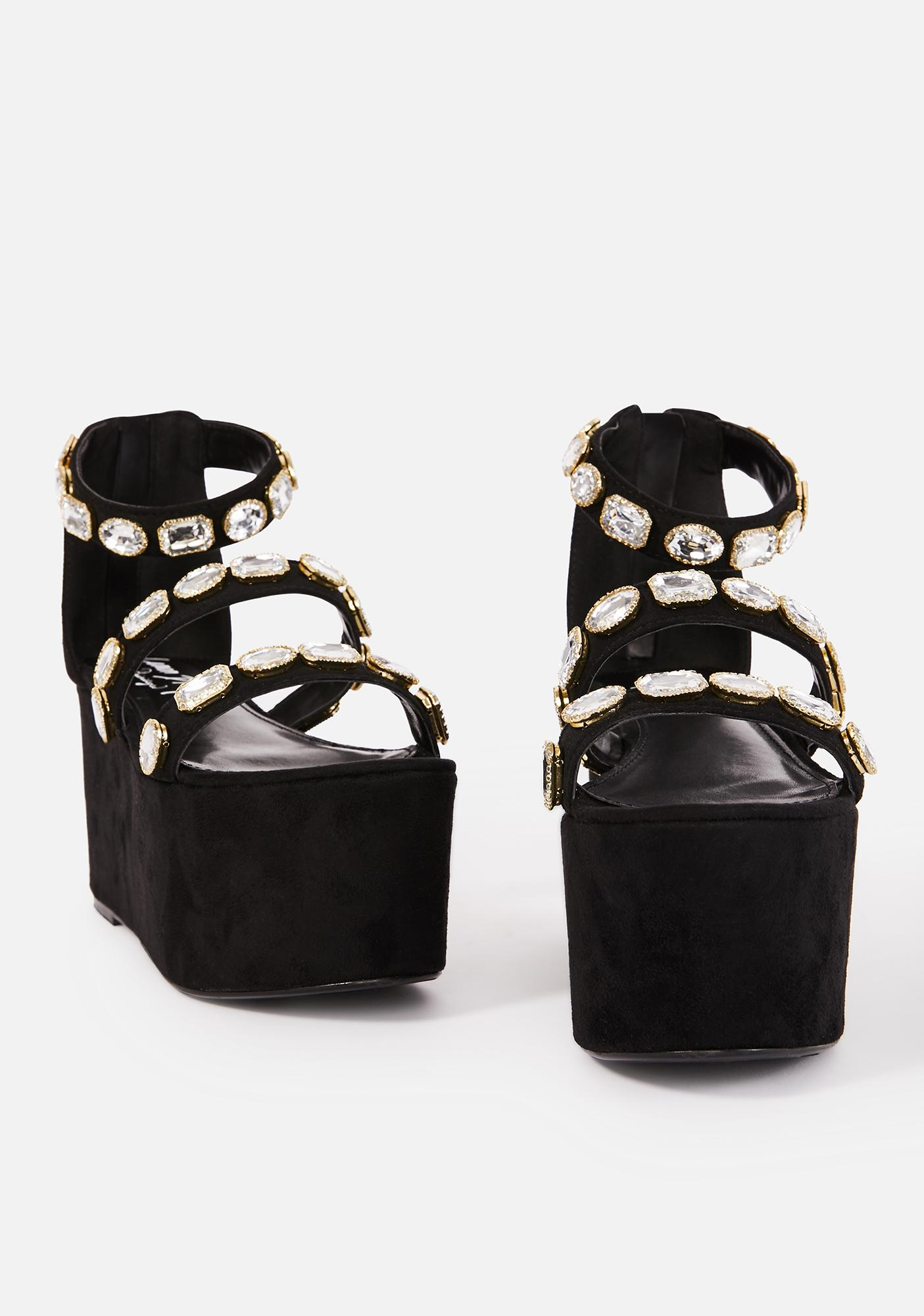 Lemon Drop by Privileged Paloona Platform Sandals