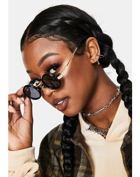 Retro Class Circle Sunglasses