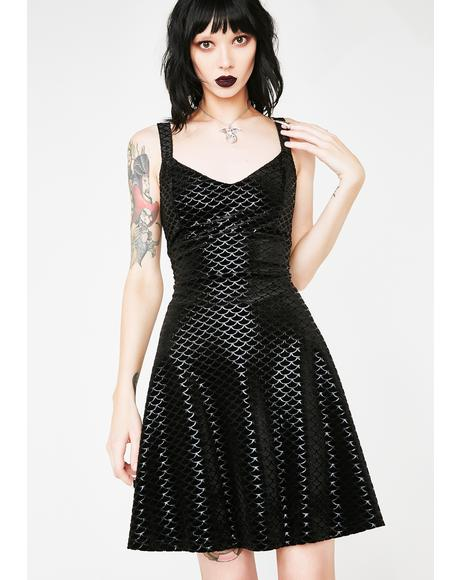 Black Sea Skater Dress