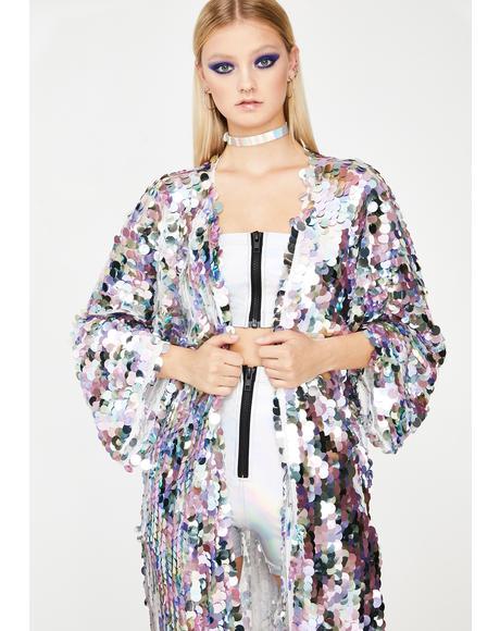 Moon Glimmer Goddess Sequin Kimono