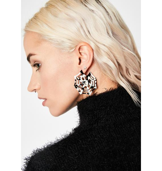 Fall Prey Spiderweb Earrings