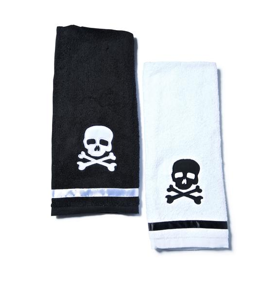 Sourpuss Clothing Skull Towel Set