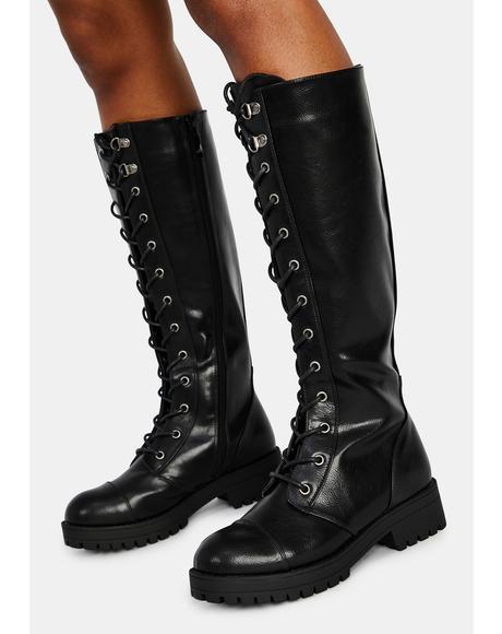 Vandal Tall Combat Boots