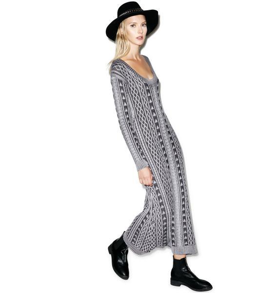 Somedays Lovin Honestly Cable Knit Dress