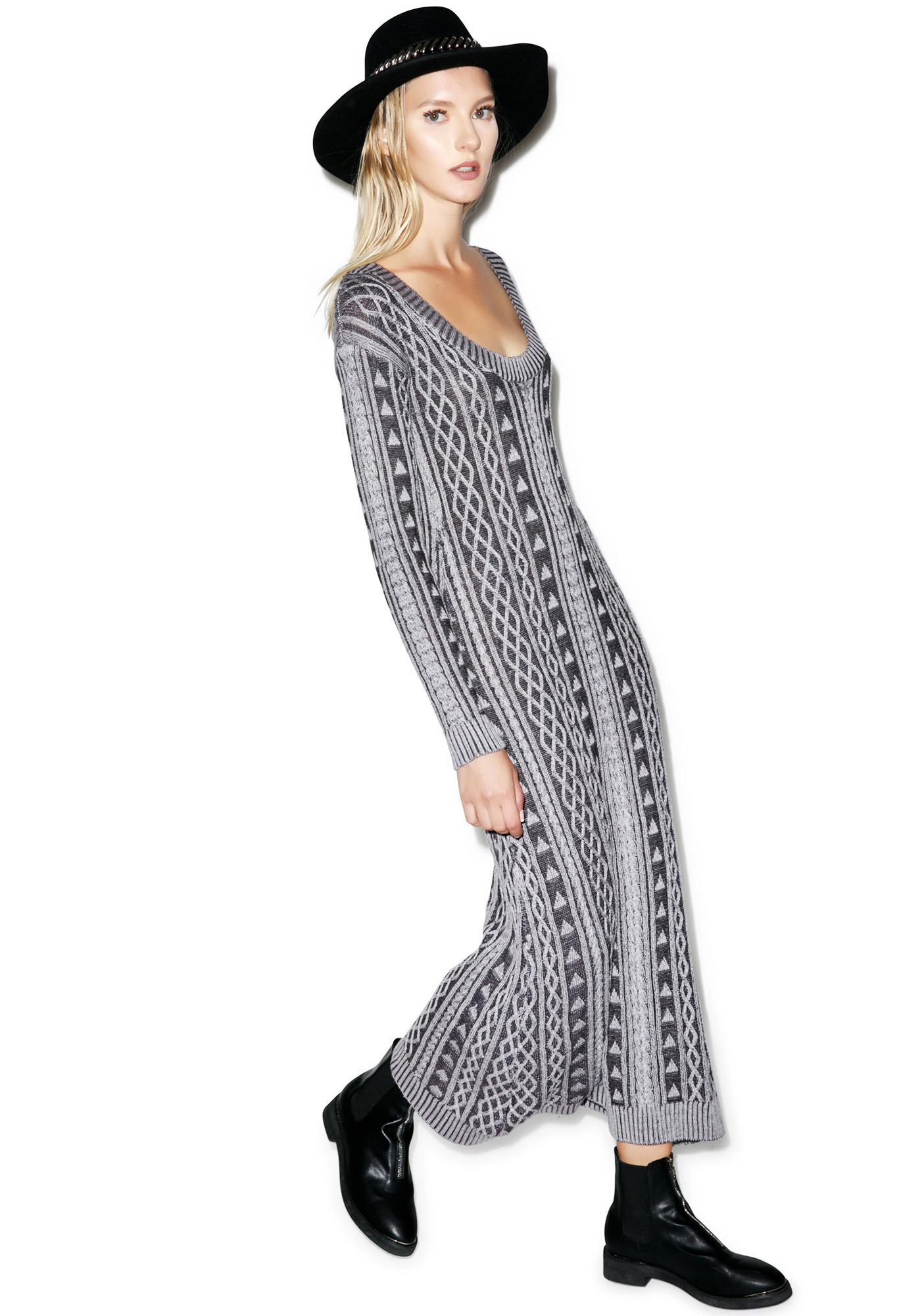 Somedays Lovin Honestly Cable Knit Dress