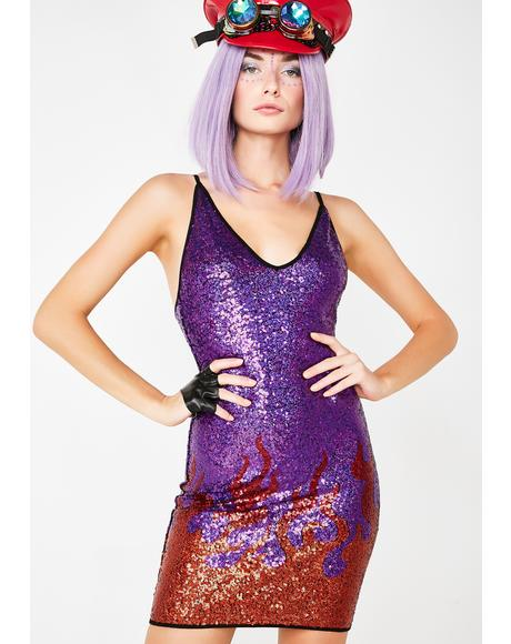 Purple Flame Dress