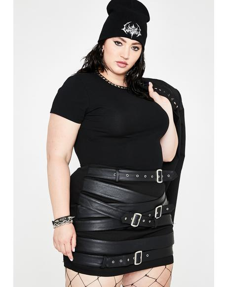 Hella Cash Strapped Mini Skirt