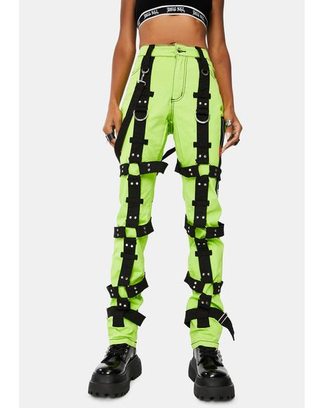 Lime Harness Pants