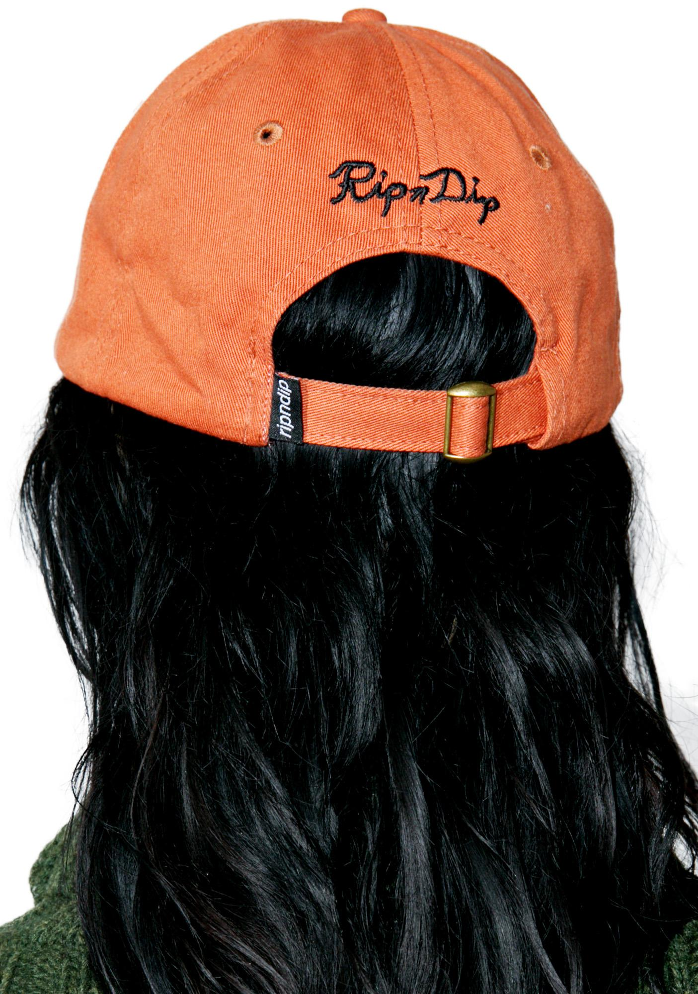 RIPNDIP Orange Nermal Leaf Dad Hat
