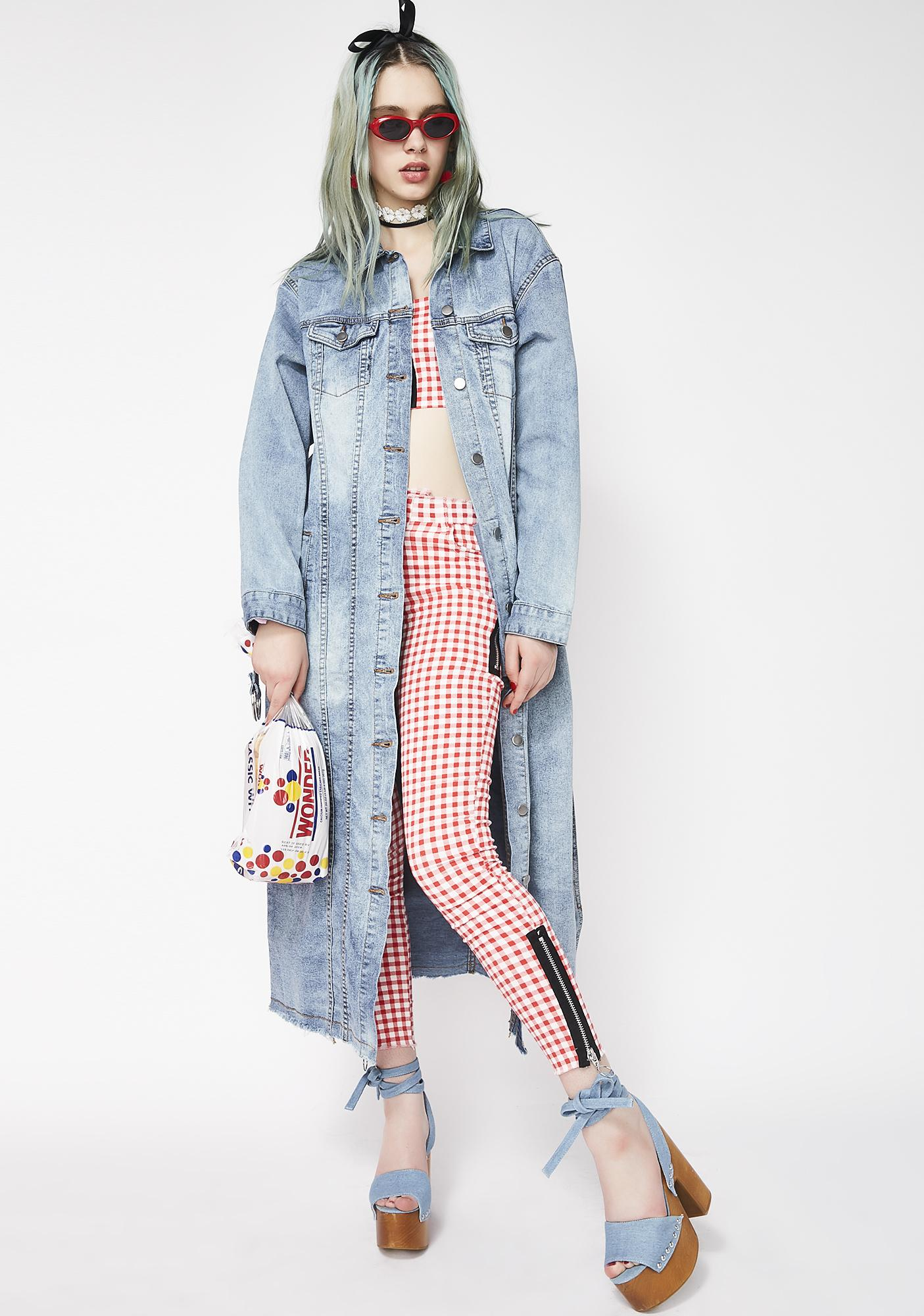 Chirping Away Denim Coat