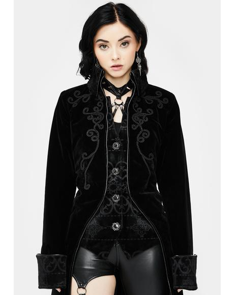 Long Pirate Mid Button Coat