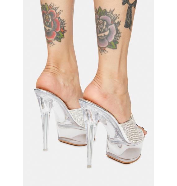 AZALEA WANG Libby Rhinestone Heels
