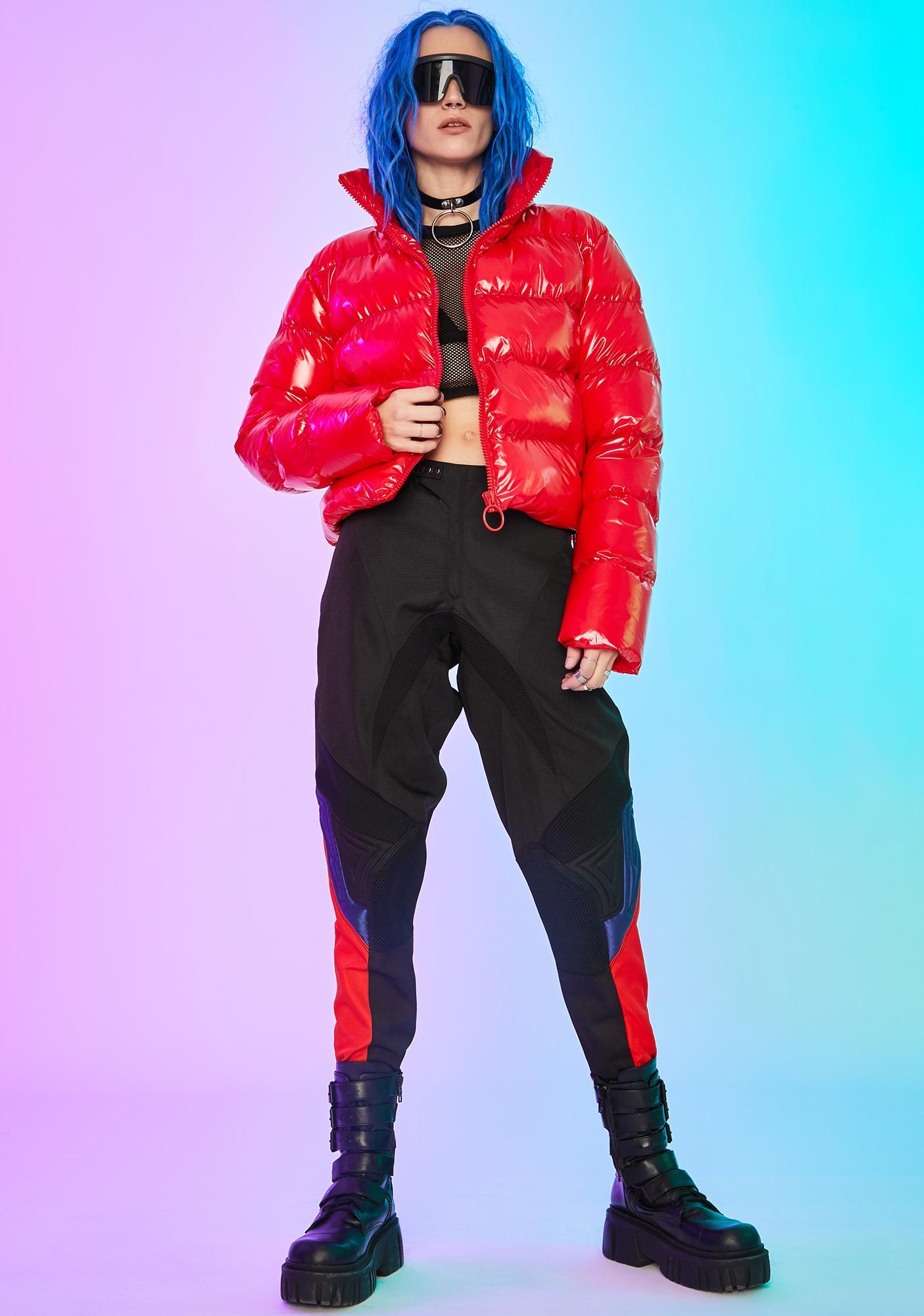 Current Mood Hellbent Heart Puffer Jacket