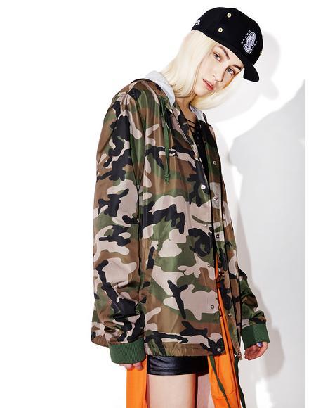 Woodland Hooded Coaches Jacket