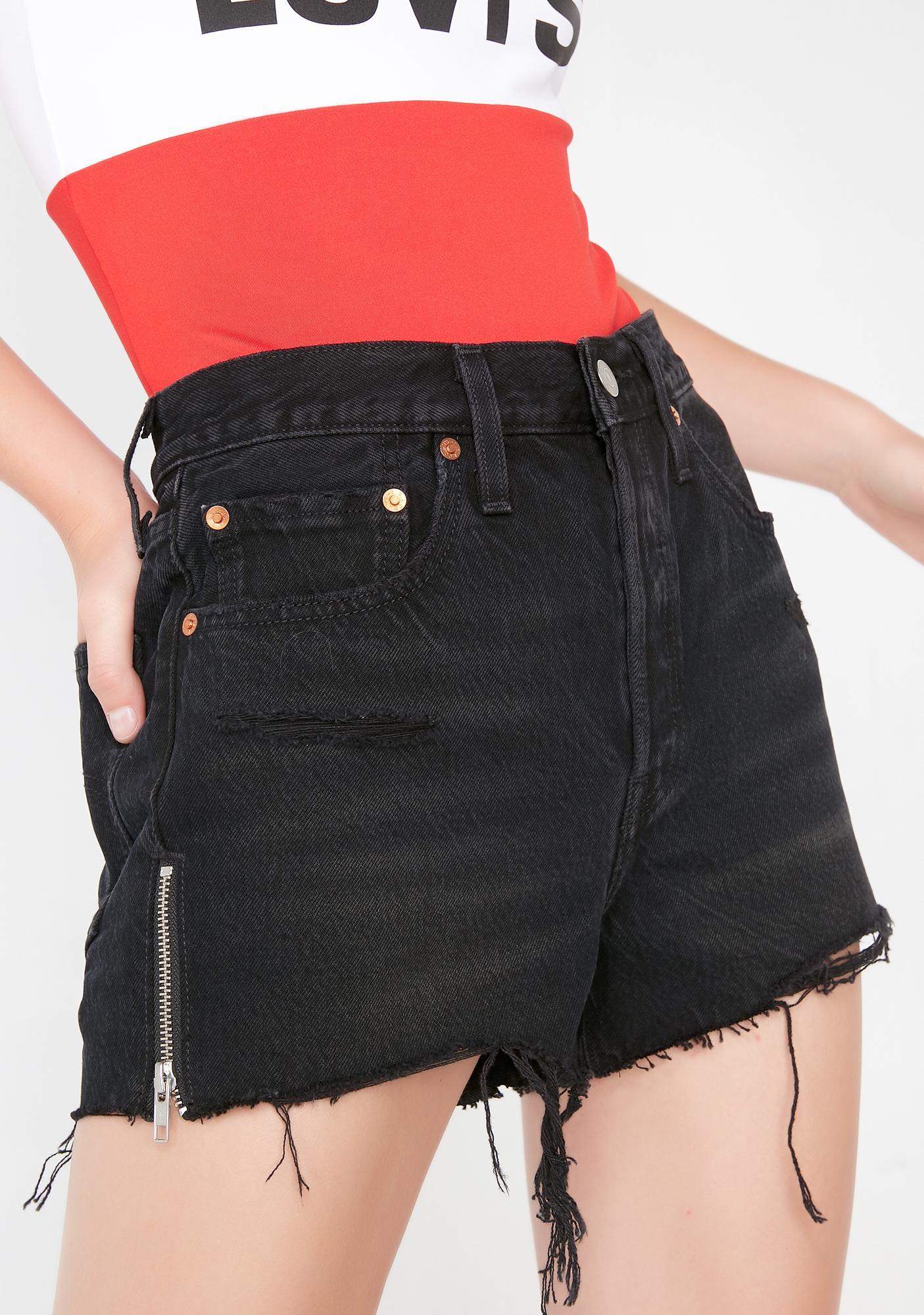 levis shorts diy