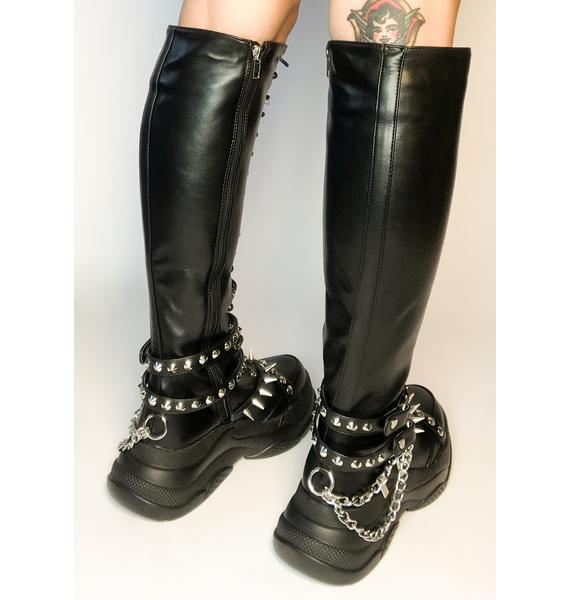 Lamoda Braggin' Knee High Combat Boots