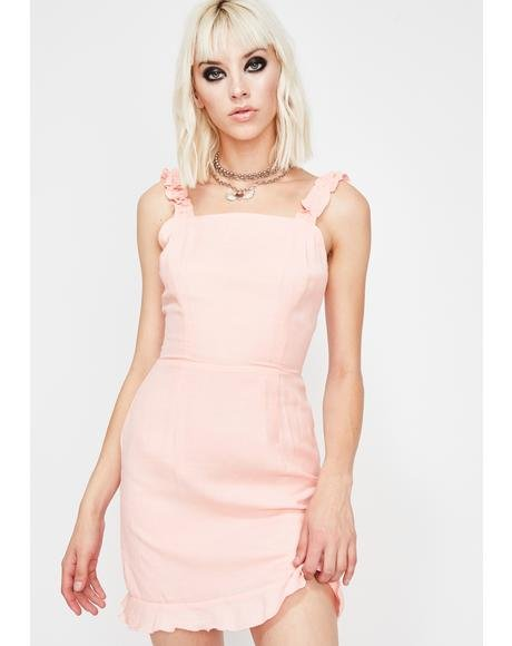 Peachy Dream Gurl Ruffle Dress