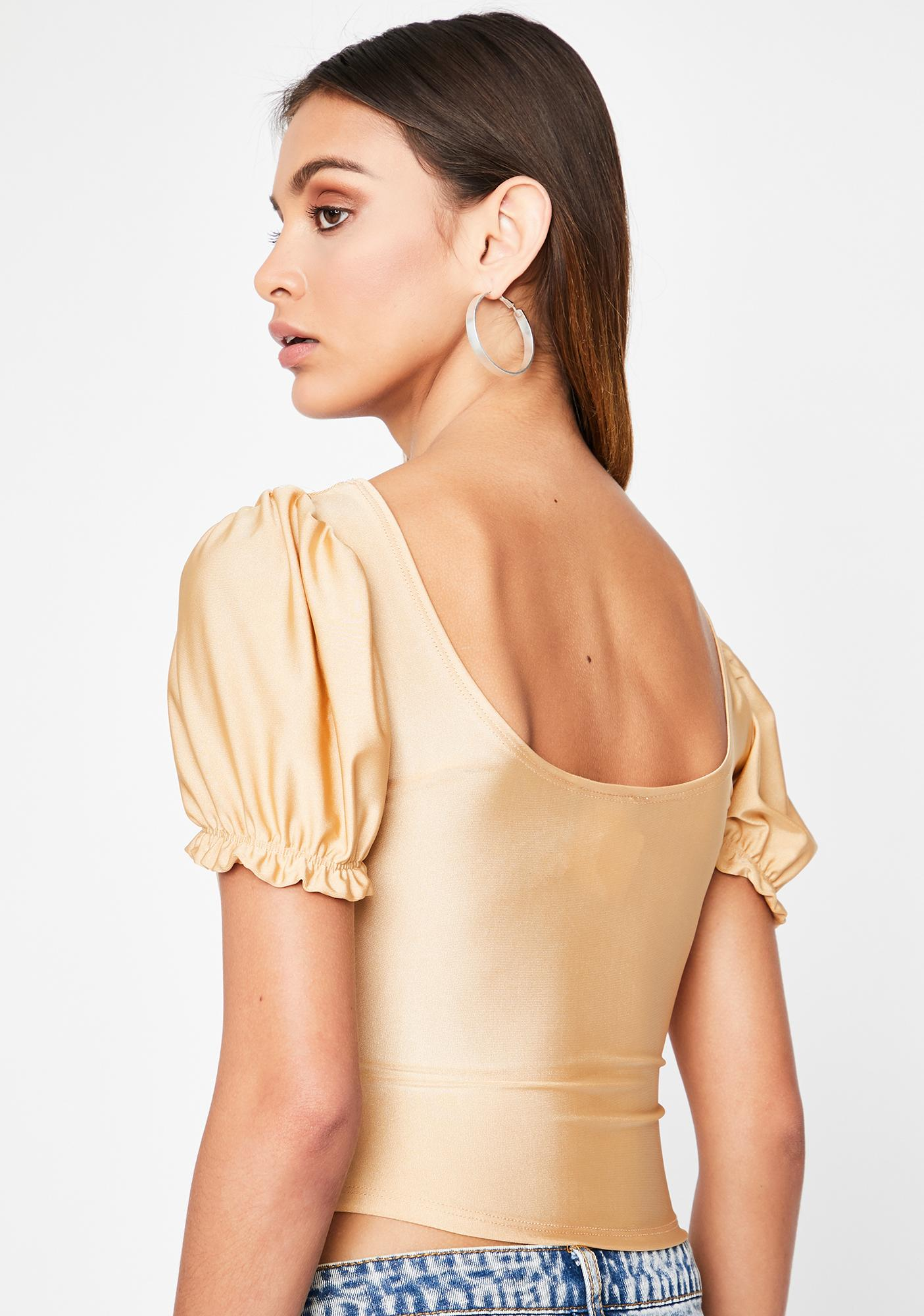 Cream Not Your Toy Corset Blouse