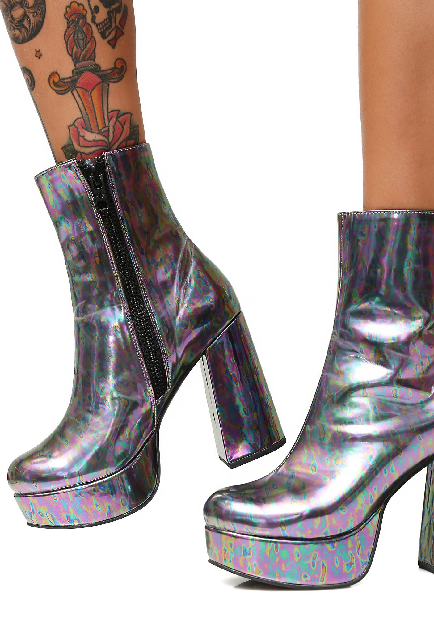 Current Mood Slick Platform Boots