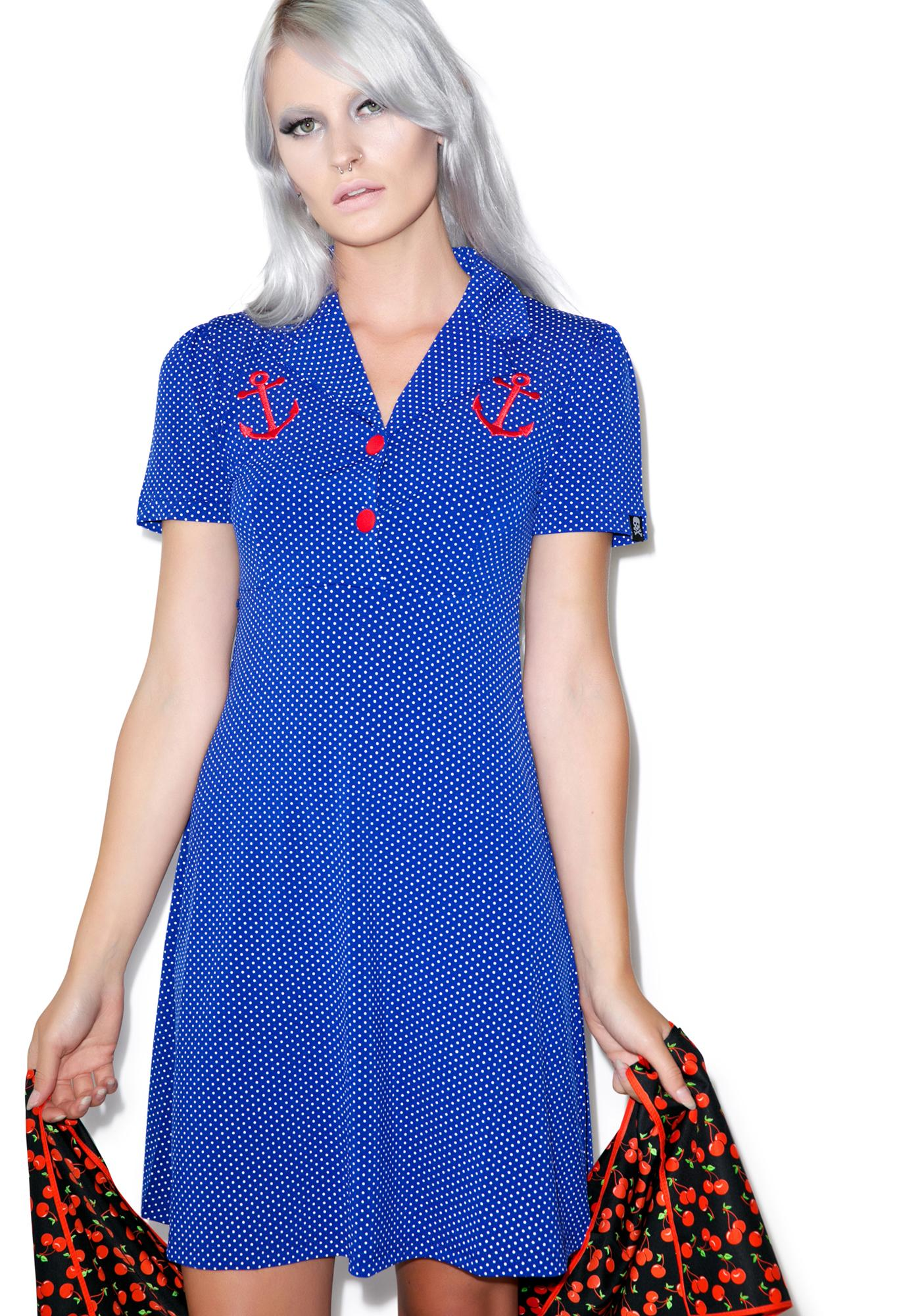 Sourpuss Clothing Rosie Anchor Dress