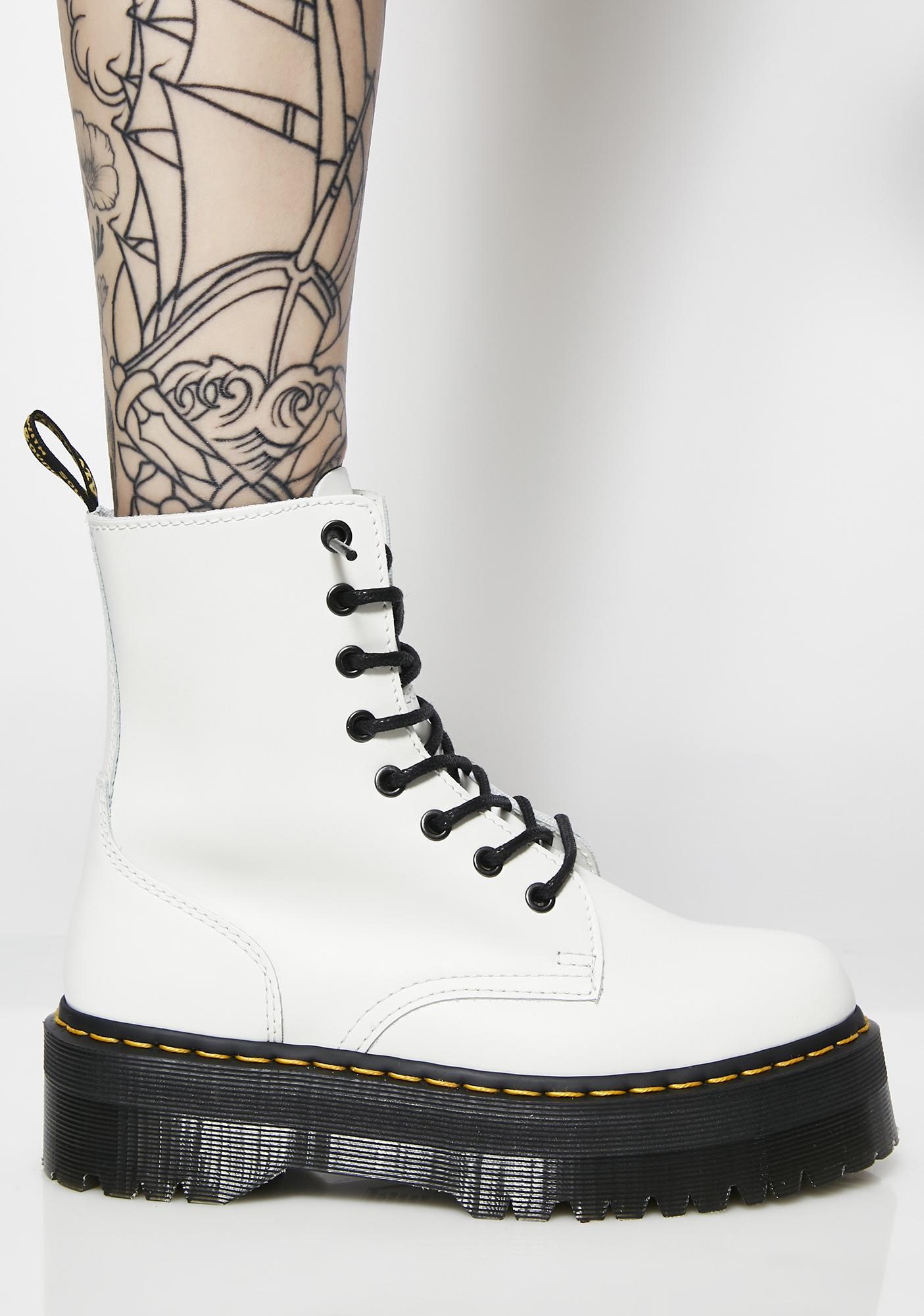 Dr. Martens White Jadon 8 Eye Boots  0485da4f48fe