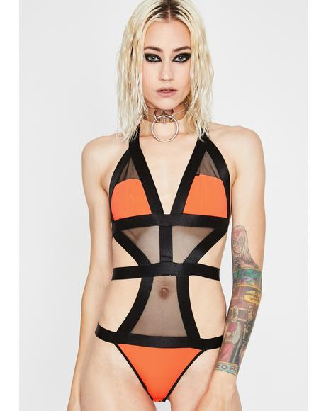 Juiced Digital Dimension Cut Out Bodysuit
