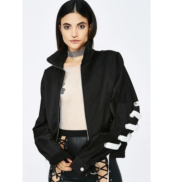 Strike Out Lace-Up Jacket