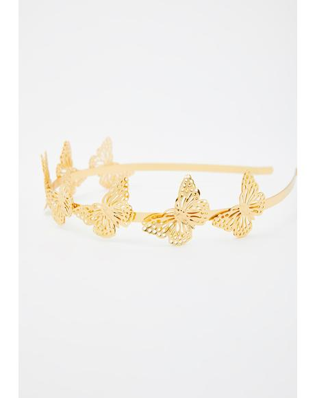 Fluttering Friends Metallic Headband