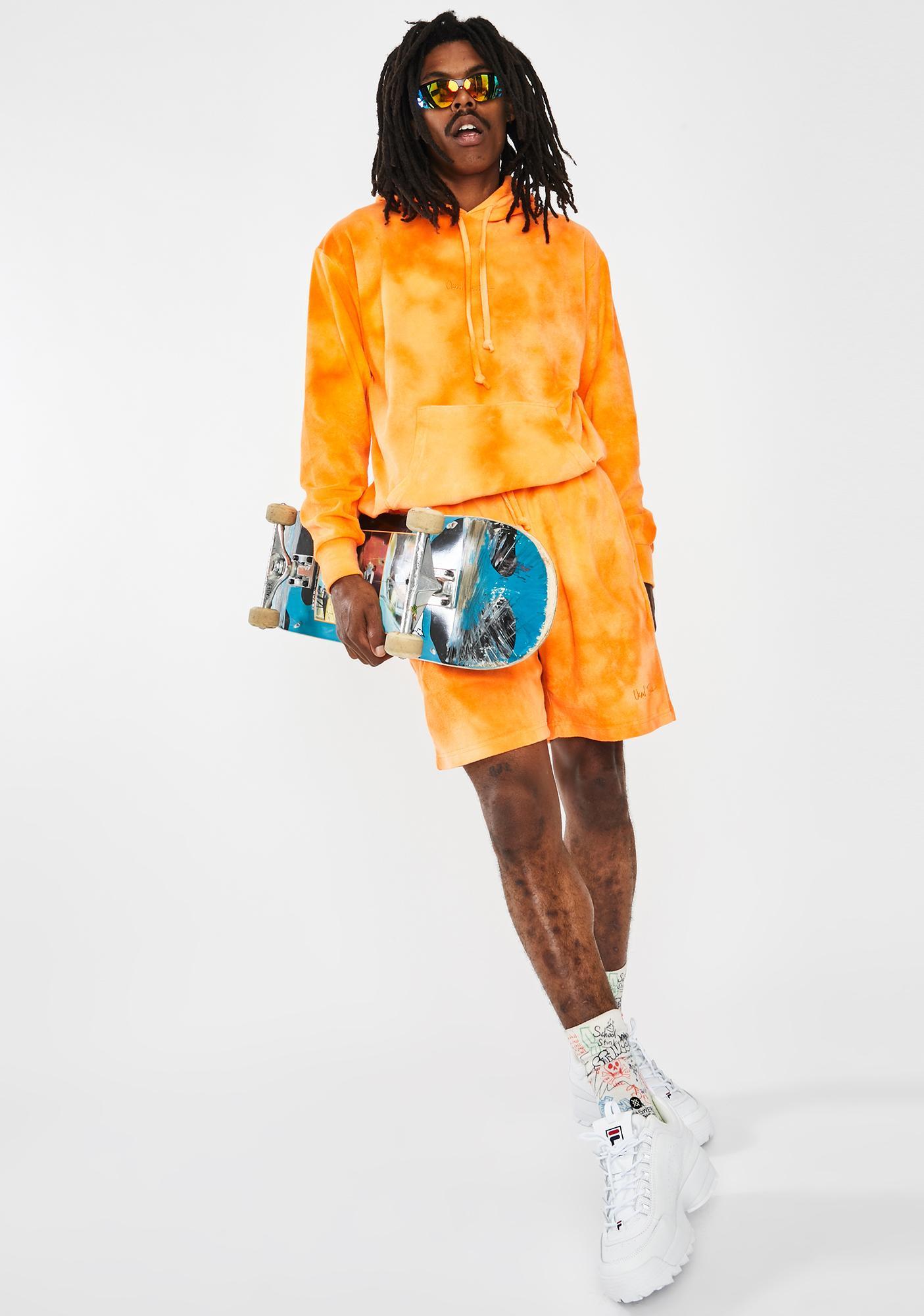 Used Future Orange Juicy Tie Dye Hoodie