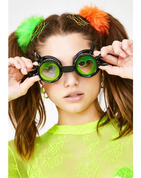 Atomic Love Acrylic Goggles