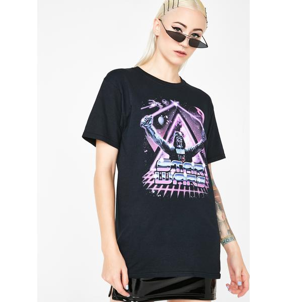 Death Star Neon Graphic Tee