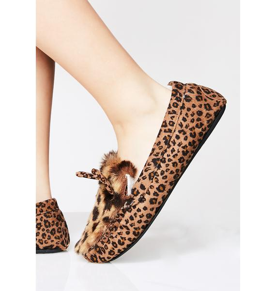 Leopard Hop On It Slippers