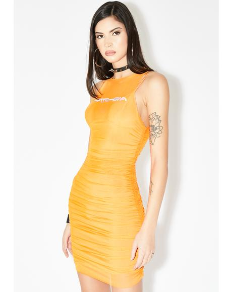 Ceres Mesh Bodycon Dress