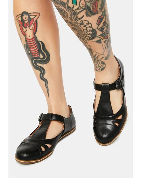 Wicked Hero Leather Flats