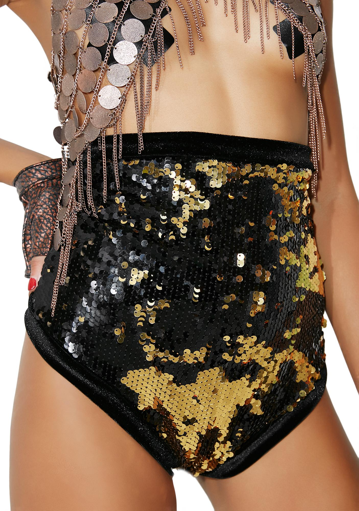 LUX MUSE Gold Ritual Shorts