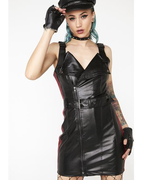 Lane Splitting Moto Dress