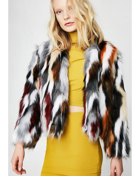 Wild Animal Fuzzy Jacket