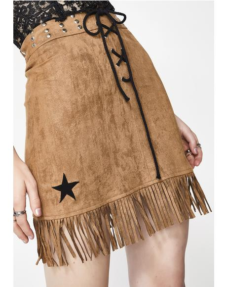 New Sheriff In Town Mini Skirt