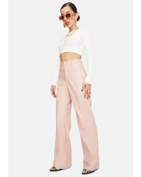 Pink Janessa Wide Leg Pants