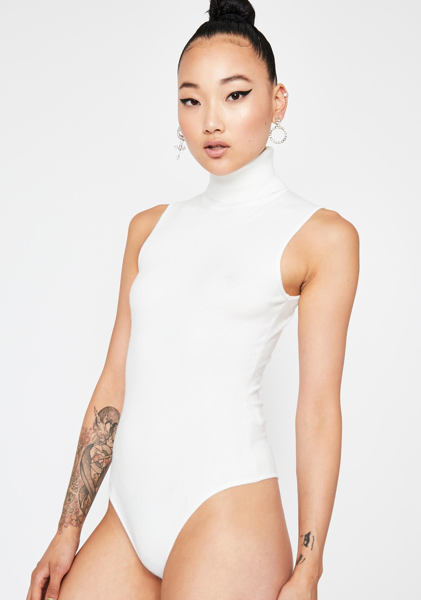 Vanilla Slow Roll Turtleneck Bodysuit