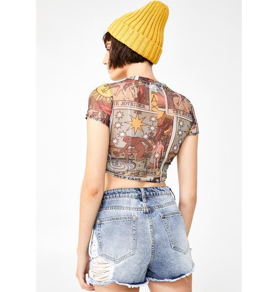 Hazy Summer Distressed Shorts