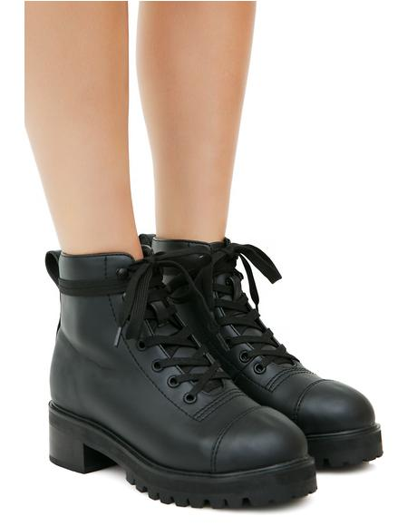 Pitch Black Boots