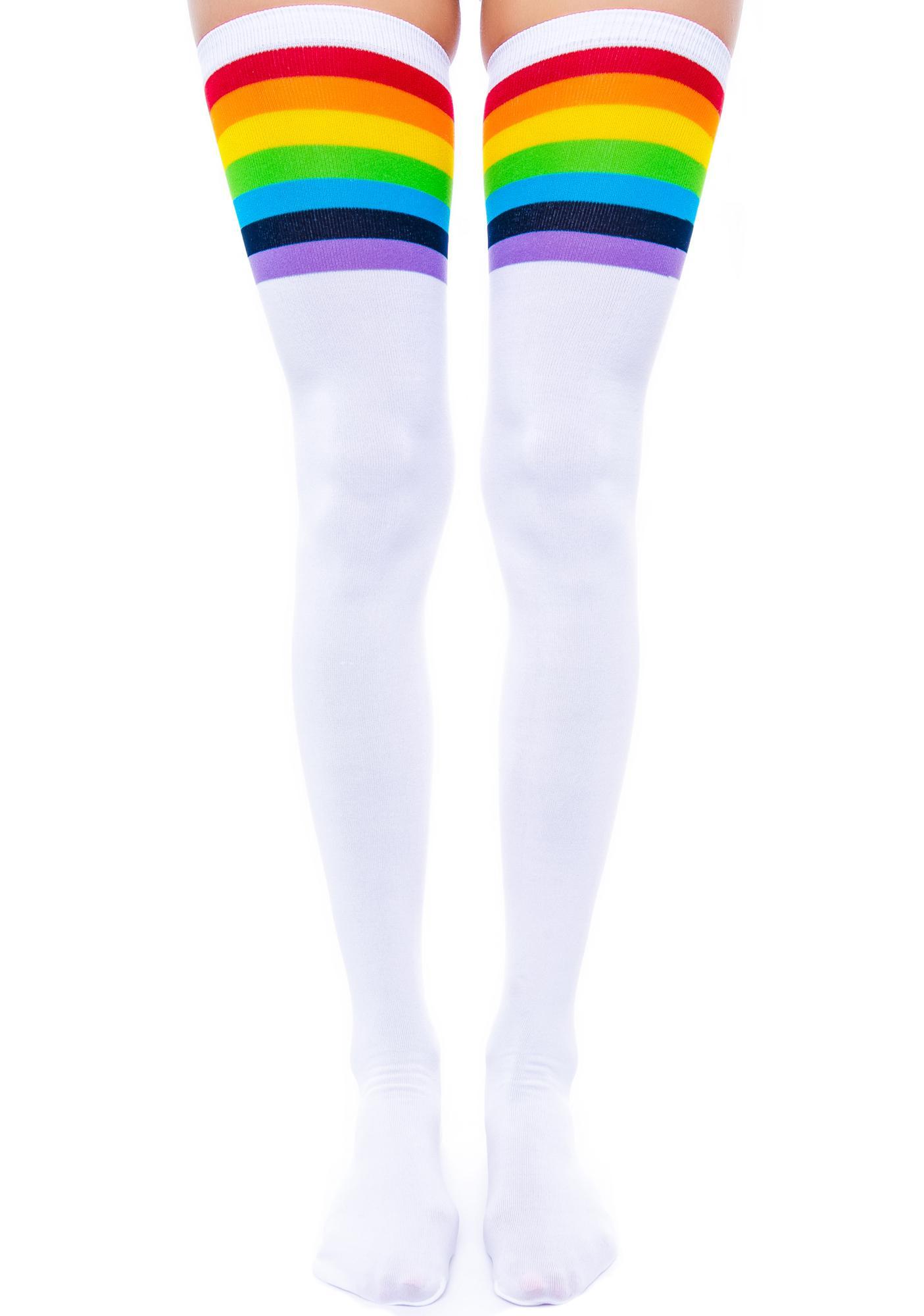 Over the Rainbow Knee Socks