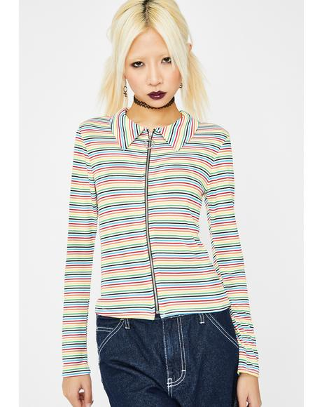 Spin Sugar Rainbow Top