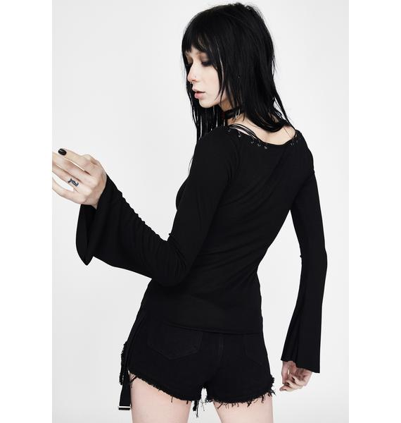 Punk Rave Knit Collar Long Sleeve
