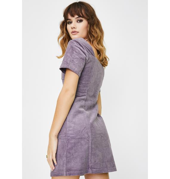 Glamorous Purple Zip Up Sheath Dress