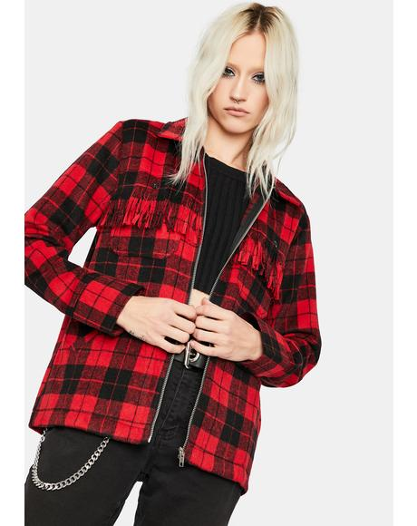 Cherry Booming Hottie Plaid Flannel