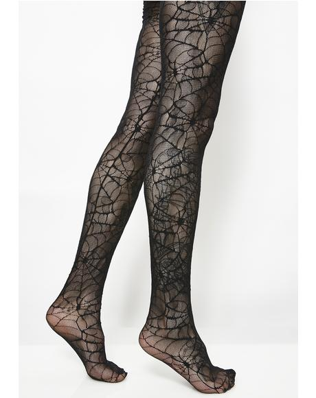 Spider Web Lace Pantyhose