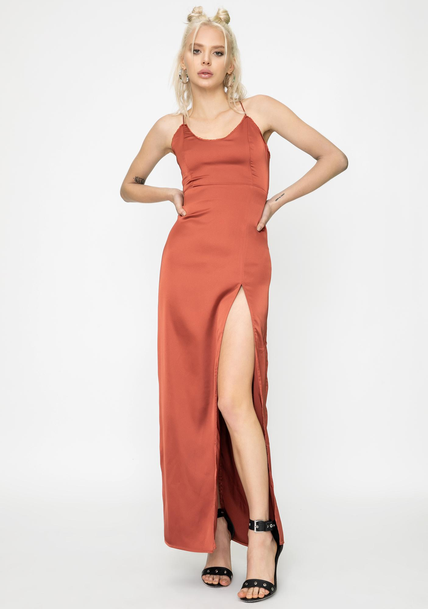 STEELE Hayden Satin Maxi Dress